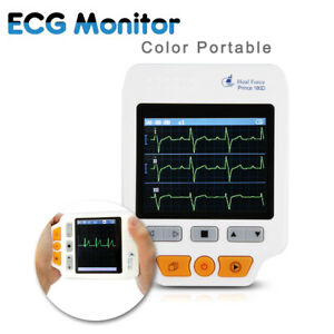 Color Lcd Display Ecg Monitor Heal Force 180d Ecg Lead Cables 50pcs Electrodes
