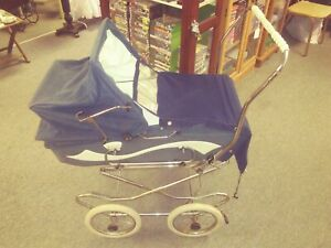 Vintage Perego Baby Canopy Stroller Baby Carriage 1960 S Or 1970 S Blue