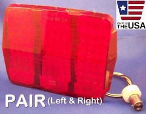 Pair 64 65 66 Mustang Sequential Led Tail Brake Lights With Lens 1964 1965 1966