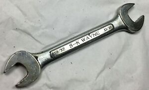 S K Wayne Tools 0 1922 19 32 X 11 16 Double Open End Wrench Usa Vintage Tool
