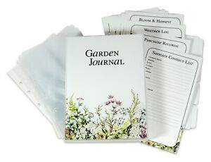 Garden Journal Tracker Book Lists Logs Layouts Page Protectors Divider Tabs