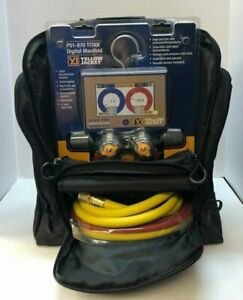 Yellow Jacket P51 870 Titan 4 valve Digital Manifold 40870 W Hoses
