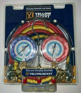 Yellow Jacket 42006 Refrigeration Manifold With 60 Hoses R 22 404a 134a