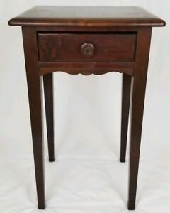 Vintage Nightstand Candle Stand Table With Drawer French Heald Antique