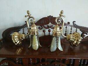 Gorgeous Pair Of Antique Victorian Wall Sconces Ready To Hang