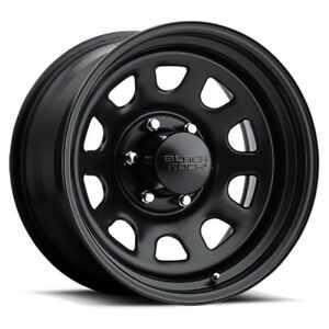 Black Rock 942 Type D Steel Rim 17x9 5x139 7 Offset 0 Matte Black qty Of 4