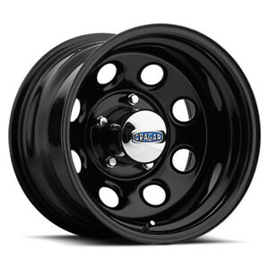 Cragar 397 Soft 8 17x8 5x120 65 Offset 0 Gloss Black Powdercoated qty Of 4