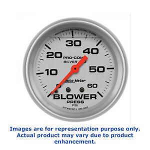 Autometer Pro comp Silver Face Blower Pressure Gauge 4602