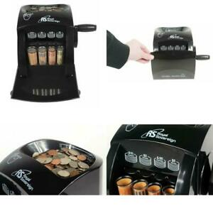 Coin Sorting Counting Machine Manual Hand Crank Counter Money Cash Sorter Black