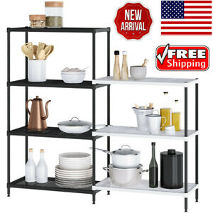4 3 tier Wire Shelving Unit Storage Rack System Organizer Home Kitchen Pantry