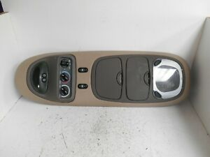 2000 2001 2002 Ford Excursion Overhead Console Rear Climate Tan Brown p5047