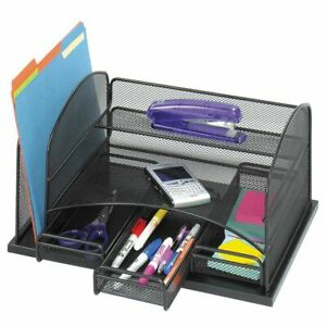 Safco 3 drawer Desktop Organizer 16 h X 11 3 8 w X 8 d Black