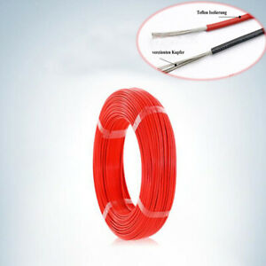 12 28awg Insulation Electrical Wire Flexible Cable Ptfe Red High Temp