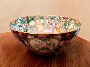Antique Chinese Qing Dynasty Guangxu Nian Zhi 1875 1908 Porcelain Punch Bowl