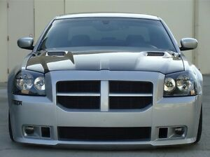 2005 2007 Dodge Magnum Clg Style Functional Ram Air Hood W Heat Extractor Vents