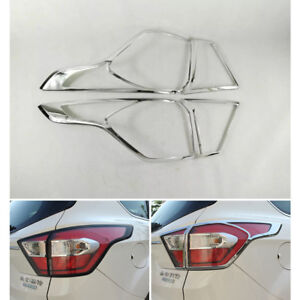 Abs Chrome Rear Tail Light Lamp Cover Bezel Trim For Ford Kuga Escape 2017