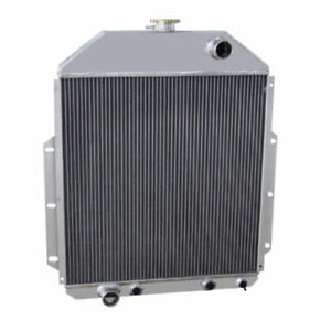 3row Aluminum Radiator For 1942 1952 48 51 Ford F1 F2 F3 F4 Truck Ford V8 Engine