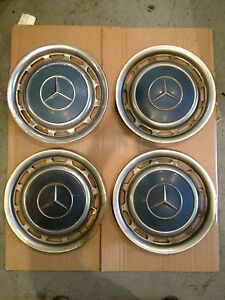 1969 Mercedes 250 4dr Wheel Covers Set Of 4 Free Shipping Ct
