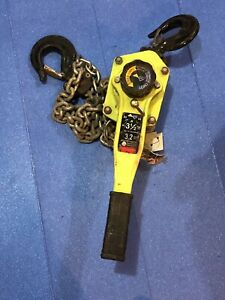 Amh Rigging 3 1 2 Ton Come Along Lever Chain Hoist With 5 Foot Of Chain