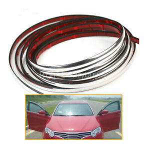 Car Styling Moulding Trim Strip 7mm Chrome Silver Interior Exterior Grill Nice