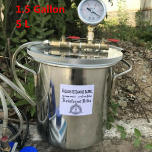 5l Stainless Steel Vacuum Chamber 1 5 Gallon Vacuum Defoaming Barrel For Resin Y