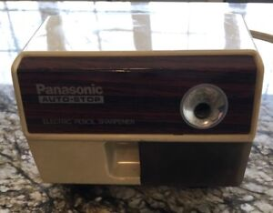 Vtg Panasonic Auto stop Electric Pencil Sharpener Kp 110 Tested