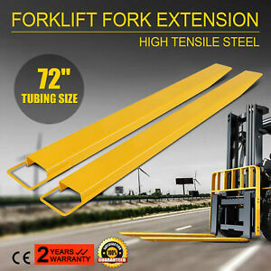 72x5 8 Forklift Pallet Fork Extensions Pair Truck Steel Construction Heavy Duty