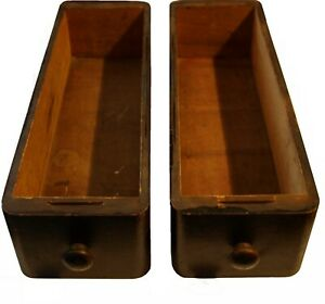2 Antique Treadle Singer Sewing Machine Wood Drawers Early 1900 S