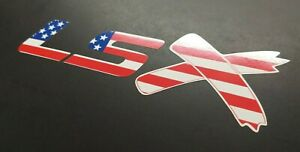 Lsx Sticker Decal Vinyl Ls X C10 Corvette Camaro Gm Merica American Flag Usa