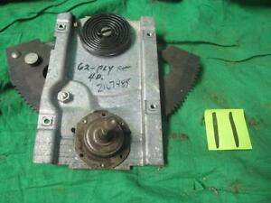 Left Front Window Regulator 62 Plymouth Dodge B Body 4 Dr Nos Mopar 2167485