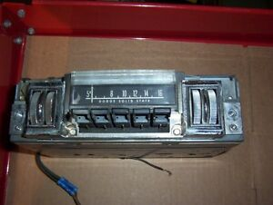Mopar Dodge Plymouth B Body Am Thumbwheel Radio In Working Condition