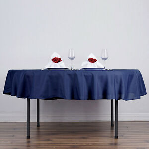 10 Navy Blue 90 Round Polyester Tablecloths Wholesale Catering Supplies Sale