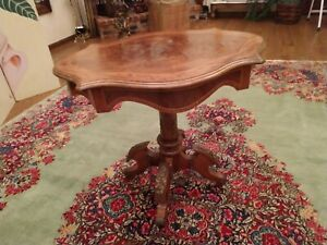 Beautiful Antique Victorian Renaissance Parlor Walnut Table With Ormolu 1890 S