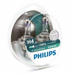 Philips X Treme Vision 130 Headlight Bulbs Pack Of 2 H4 60 55w