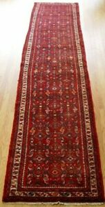 Antique Hamadan Hand Knotted Wool Runner Tribal Oriental Rug 2 8 X 12 10