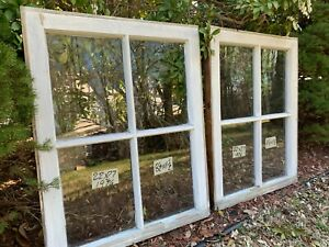 2 22 X 27 Matching Vintage Window Sash Old 4 Pane From 1926 Arts