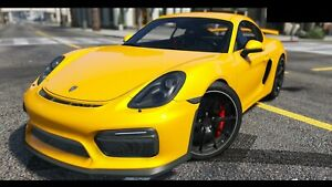 Porsche 981 Cayman Boxster Upgrade Gt4 Body Kit Front Bumper Diffuser Vents Wing