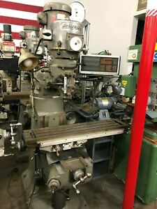 Bridgeport Variable Speed Milling Machine Chrome Ways Series 1 9 X 42