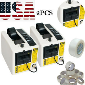 2x Automatic Tape Dispensers Adhesive Tape Cutter Packaging Device machine Usa