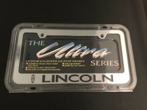 Engraved Lincoln Chrome Plated Metal License Plate Frame