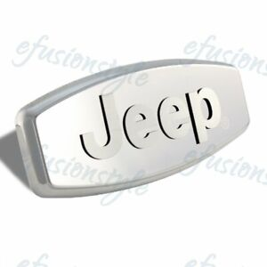 Jeep 3d Logo Stainless Steel Hitch Cover 2 1 25 Trailer Tow Receiver