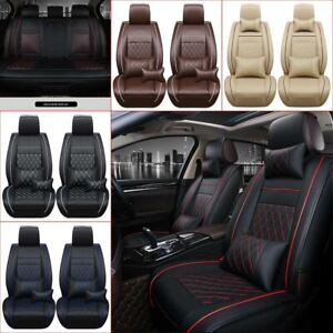 5 Seat Suv sedan Car Seat Cover Pu Leather Front Rear Cushions Protectors Us
