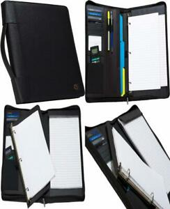 Case it Executive Zippered Padfolio With Removable 3 ring Binder And Letter