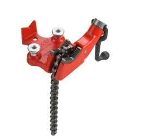 Bench Chain Vise Top Screw Heavy Duty Cast Iron Base Hold Pipe Durable Home