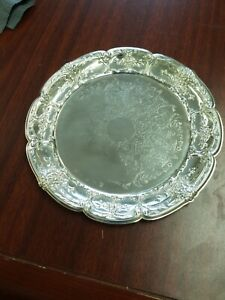 Vintage Leonard Silver Plated Small Plate Serving Tray