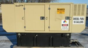 30 Kw Generac Kia Diesel Generator Genset 530 Hours Load Bank Tested
