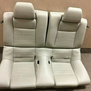 Oem Ford Mustang Coupe Leather Rear Seat Cream Tan 2010 2011 2012 2013 2014