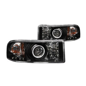 Anzo For Dodge Ram 1500 94 01 Projector Headlights Black With Halo Ccfl 111065 Fits 2001 Dodge Ram 1500 Sport