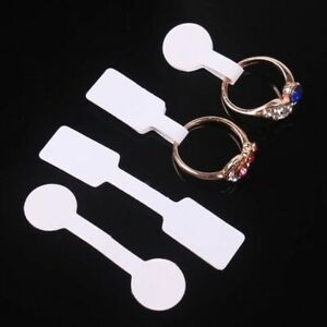 Blank White Paper Price Tag Labels Jewelry Ring Display Cards Labels 1000pcs
