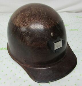 Vtg Msa Skullgard Miner Hard Hat Suspension Protective Hat Ansi Class A Brown